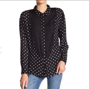 One Teaspoon Lexington Polka Tuxedo Button Down